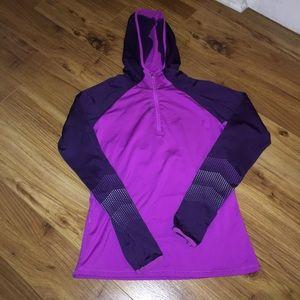Fleece lined quarter zip running top